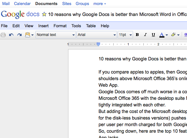 10 reasons why Google Docs is better than Word in Microsoft