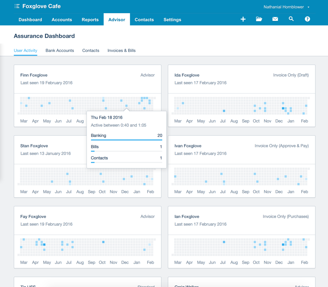 The assurance dashboard can quickly reveal unusual changes to a Xero file.