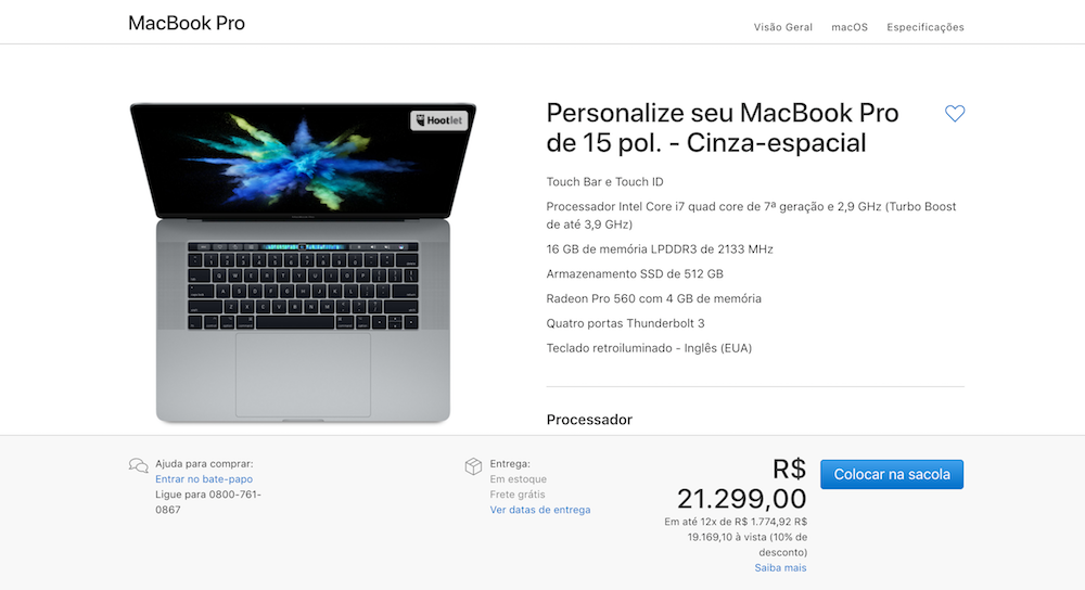 Brazil macbook pro price