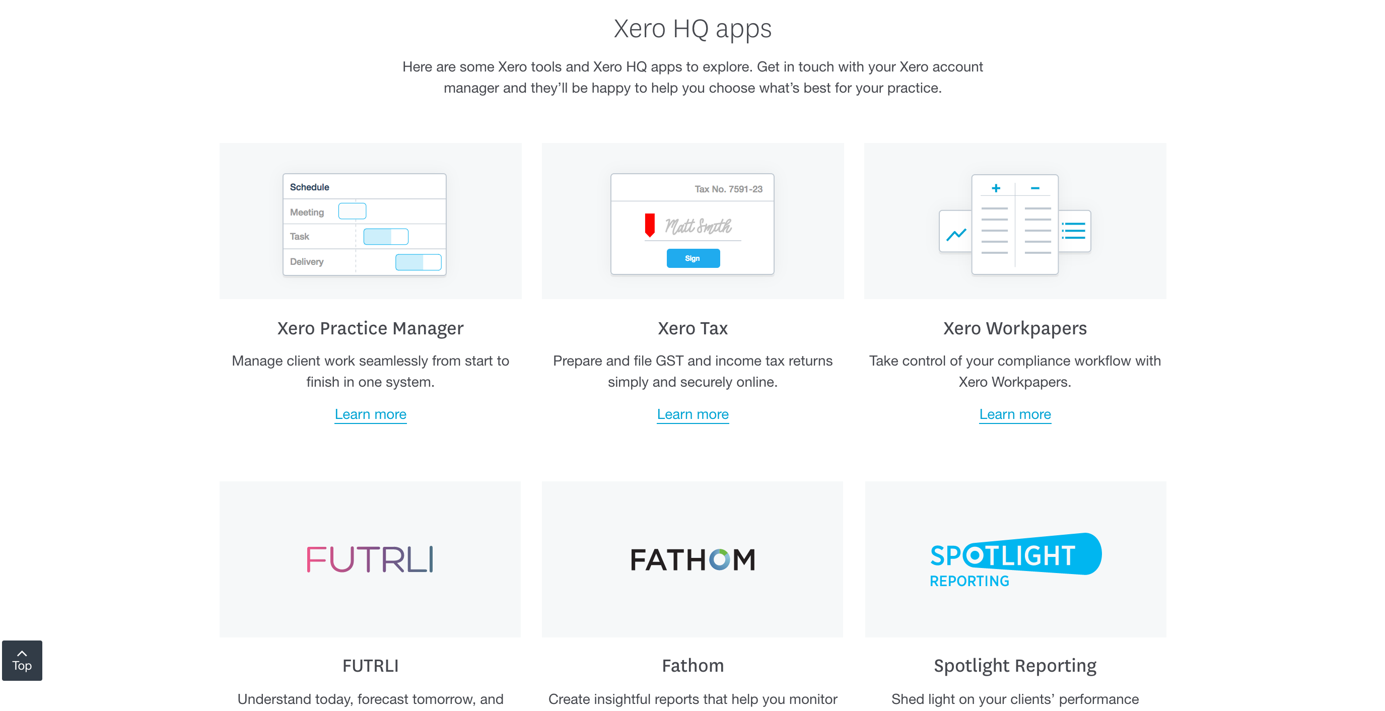 Xero HQ apps