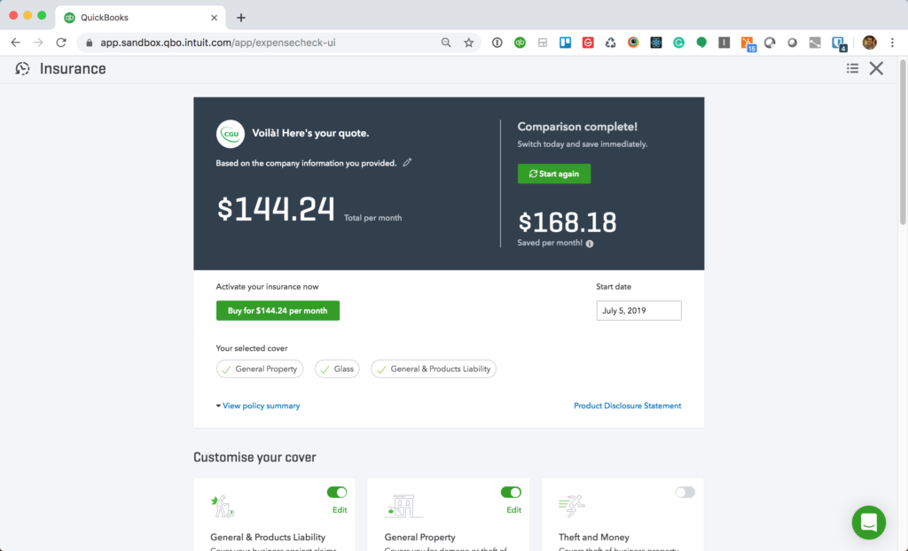 QuickBooks Online Adds Auto-Updating Insurance for
